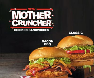 Free Mother Cruncher Chicken Sandwich with $5+ Purchase at Rally's Drive-in