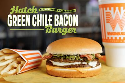 Limited Time Hatch Green Chili Bacon Burger Introduced at Whataburger