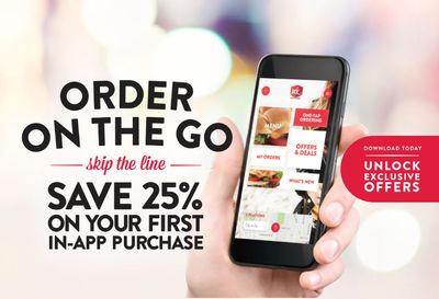 Download and Order with the Jack In The Box App and You'll Save 25% on Your First In-App Purchase