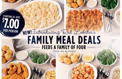 More Chicken Breast, Fish Fry and Salmon Family Meal Deals Starting at $7 a Person Introduced at Red Lobster