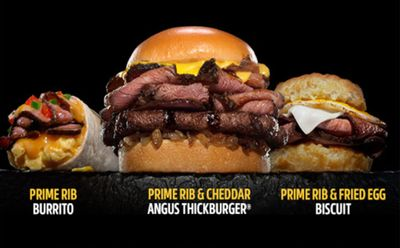 New Prime Rib Burgers, Burritos and Biscuits Available Now at Carl's Jr.