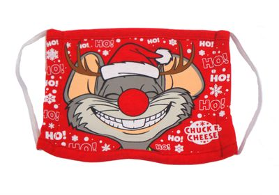 New Festive Chuck E. Cheese Face Masks for Kids Available for a Limited Time Only