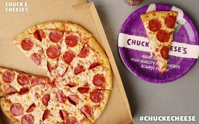 2 for Tuesdays Special Offered In Restaurant at Chuck E. Cheese: Get 2 Large Pizzas for $22