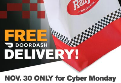 Free DoorDash Delivery on $15+ Orders for Checkers and Rally's this Cyber Monday Only