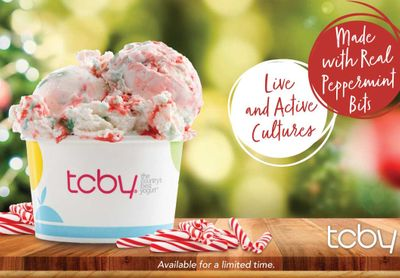 Peppermint Soft Serve and Peppermint Hand Scooped Frozen Yogurt Return to TCBY for the Holidays