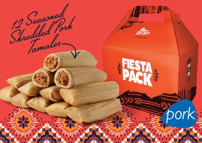 New Limited Time Tamale Fiesta Packs Available at Select Del Taco Locations (In Restaurant Only)