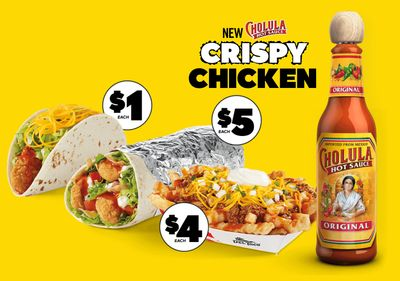 Del Taco Launches a New Line of Cholula-Inspired Crispy Chicken Burritos, Tacos and More