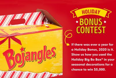 New Holiday Bonus Contest for Best Pic with a $5000 Grand Prize Announced at Bojangles
