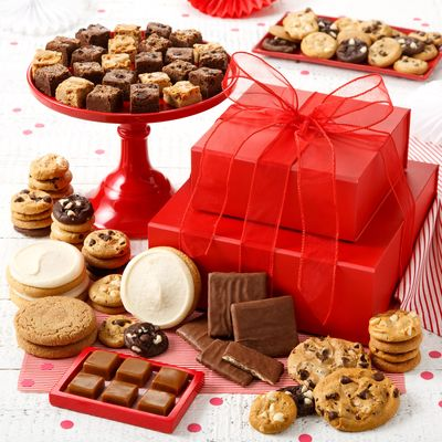 Limited Time Sale on Select Cookie Towers and Tins Online at Mrs. Fields
