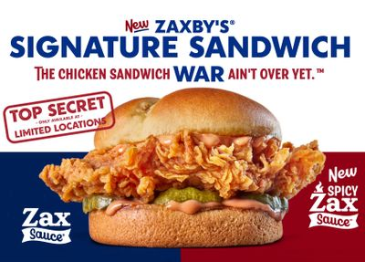 Zaxby's is Testing their New Signature Sandwich at Select Locations