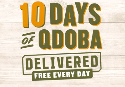 QDOBA Mexican Eats Offers Customers Free Delivery with Online or In-app Orders Through to December 20