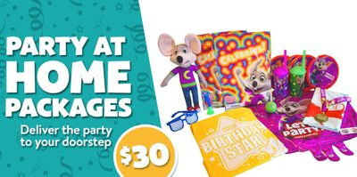Chuck E. Cheese Offering New $30 Party at Home Kits through the Updated Chuck E. Cheese Online Shop