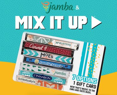 New Mix It Up eGift Cards Now Available at Jamba Juice for a Limited Time with 20% Off