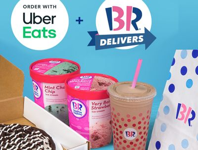 Baskin-Robbins Offers a $0 Delivery Fee with Uber Eats Orders of $10 or More Through to January 3