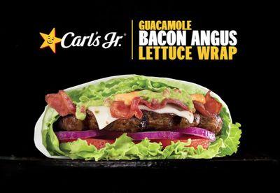 New Guacamole Bacon Angus Lettuce Wrap Arrives at Carl's Jr.