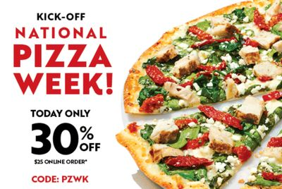 January 10 Only: Receive 30% Off Your $25+ Online Order at Papa Murphy's with New Promo Code
