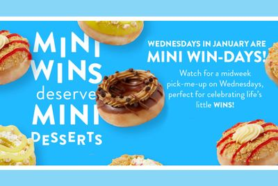 Mini Win-days are Coming to Krispy Kreme Every Wednesday in January with a New Daily Deal