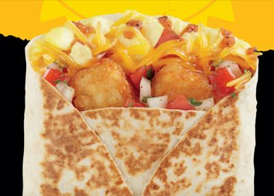 Del Taco is Now Dishing Up the Breakfast Egg & Cheese Toasted Wrap for Only $2
