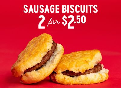 Get 2 Sausage Biscuits for $2.50 at Bojangles for a Limited Time Only