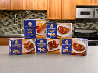 Auntie Anne's Frozen Pretzels and Baking Kits are Now Available at Your Local Grocery Store