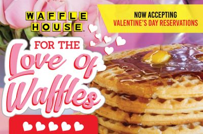 Participating Waffle House Restaurants are Now Taking Valentine's Day Reservations