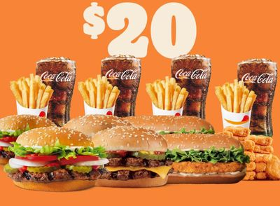 Burger King Introduces the Online or In-app $20 Ultimate Party Bundle with Burgers, Chicken Sandwiches, Fries & More