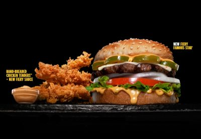 Hardee's New Fiery Menu, Featuring the Fiery Famous Star Burger and Fiery Sauce, is Now Available