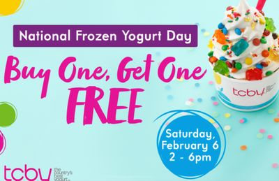 TCBY Offers a New BOGO Frozen Yogurt Deal on February 6 from 2 to 6 PM