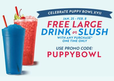 Get a Free Drink or Slush with Any In-app Purchase at Sonic Drive-in Through to February 8
