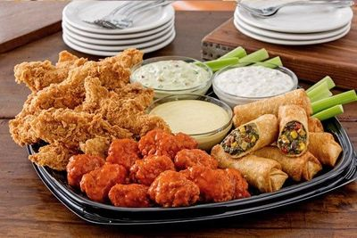 Customize a Chili's Triple Dipper Party Platter and Get a Free Platter of Chips & Salsa This Weekend Only