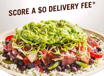 Receive a $0 Delivery Fee on February 7 With In-app and Online Chipotle Orders Over $10