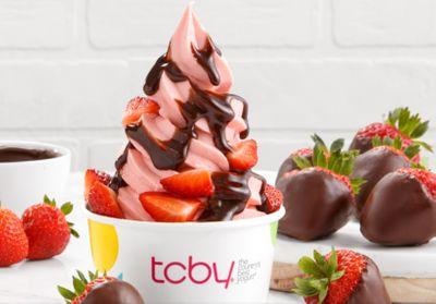 TCBY Celebrates Valentine's Day with Strawberry Frozen Yogurt and Chocolate-Covered Strawberry Soft Serve