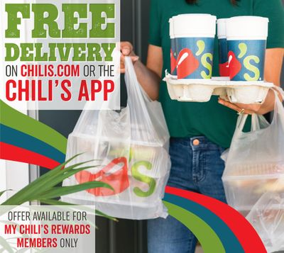 My Chili's Rewards Members Can Claim Free Delivery With an Adult Entree Purchase Through to February 11