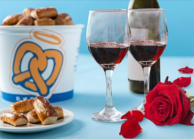 Save $5 Off Pretzel Buckets with In-app Purchases this Valentine's Day at Auntie Anne's Pretzels