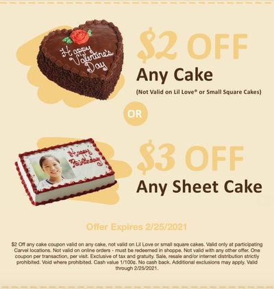 Carvel Spreads the Love with New $3 Off and $2 Off Cake Coupons
