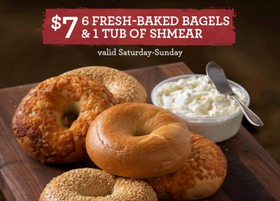 For $7 Shmear Society Members Can Celebrate Valentine's Day with 6 Bagels and 1 Shmear Tub