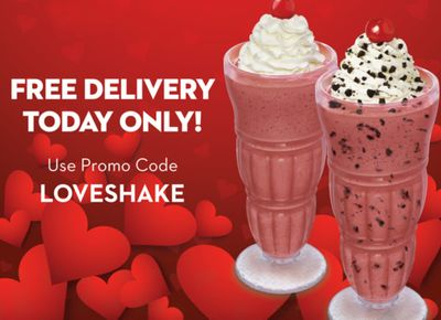 February 14 Only: Receive Free Delivery on $10+ In-app or Online Orders from Steak 'n Shake with a New Promo Code