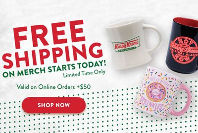 Free Shipping on $50+ Orders from the Krispy Kreme Online Shop Begins Today for a Limited Time Only