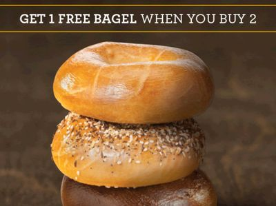 Shmear Society Rewards Members Can Buy 2 Bagels and Get 1 Free In Store Through to February 28 at Einstein Bros. Bagels
