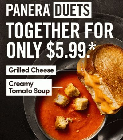 Panera Value Duets Meal Deals for Only $5.99!
