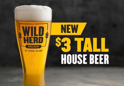 Buffalo Wild Wings Offers $3 Tall House Beer with the Wild Herd Kölsch by Goose Island
