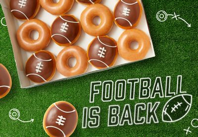 Krispy Kreme Rolls Out their Iconic Football Donut for a Limited Time Only