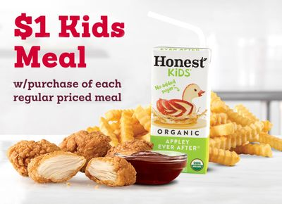 Get 1 Kids Meal for $1 When You Buy 1 Regularly Priced Meal at Arby's for a Limited Time Only