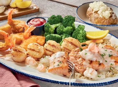 Red Lobster Introduces the New Mariner's Feast with Scallops, Salmon, Lobster Cream Sauce and More