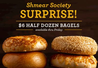 Four Days Only: Get a Half Dozen Bagels for $6 at Einstein Bros. Bagels if You're a Shmear Society Member