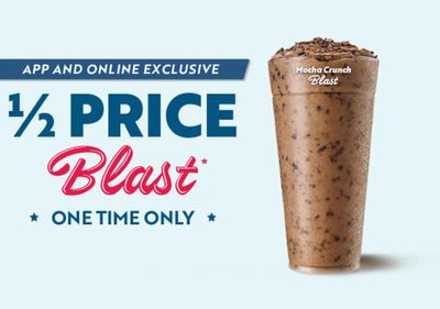 Sonic Rewards Members Can Now Get a Half Priced Mocha Crunch Blast with an In-app or Online Order