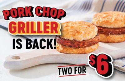 Popular 2 for $6 Pork Chop Griller Deal Returns to Bojangles