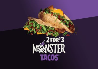 Monster Tacos Return with a 2 for $3 Deal to Jack In The Box Restaurants this Halloween