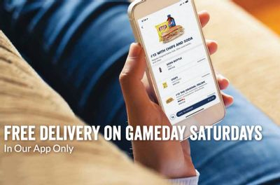 Jersey Mike's Subs is Offering Free Delivery with In-app Orders on Gameday Saturdays for a Limited Time